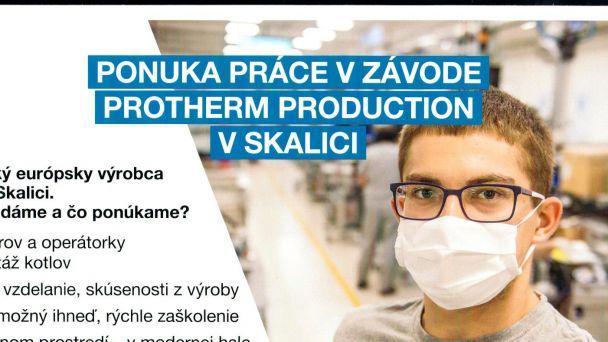 Ponuka práce Protherm Production Skalica